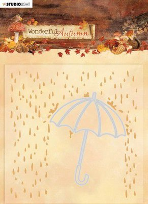 Studio Light Embossing Folder With Die Cut Wonderful Autumn nr.06 EMBWA06