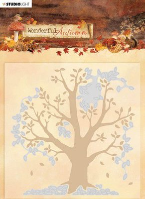 Studio Light Embossing Folder With Die Cut Wonderful Autumn nr.05 EMBWA05
