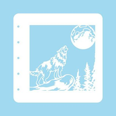 Nellie's Choice Stencil Christmas Time - Wolf COLST008