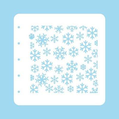 Nellie's Choice Stencil Christmas Time - Sneeuwvlokken COLST004