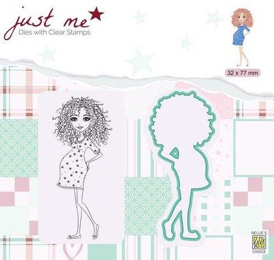 Nellie's Choice Just Me Die + Clear stamp Zwanger JMSD007 32x77mm