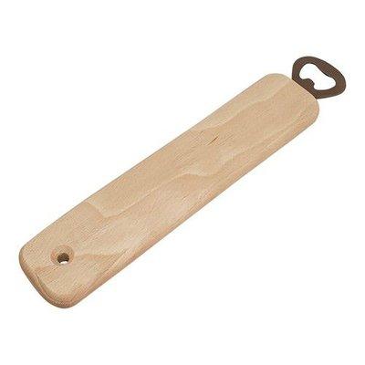 Houten Flessen opener recht beukenhout 25,3 cm x 4,8 cm x 1,5 cm
