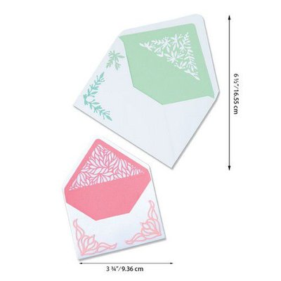 Sizzix Thinlits Die Set - Botanical Envelope Liners 6PK 664446 Jen Long