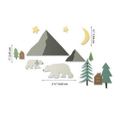 Sizzix Thinlits Die Set - Arctic Bear 16PK 664445 Emily Tootle