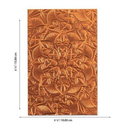 Sizzix 3-D Textured Impressions Emb. Folder Floral Mandala 664405 Kath Breen