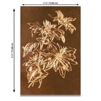 Sizzix 3-D Texture Fades Emb. Folder - Poinsettia 664247 Tim Holtz