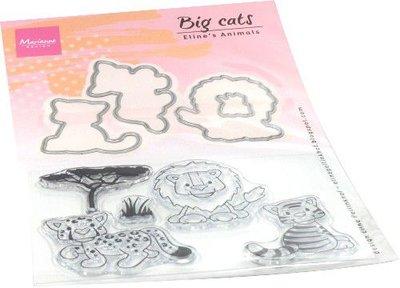 Marianne Design Clear stamp Eline's Animals - grote katten EC0182 stamps dies
