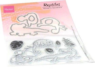 Marianne Design Clear stamp Eline's Animals - reptielen EC0181 stamps dies