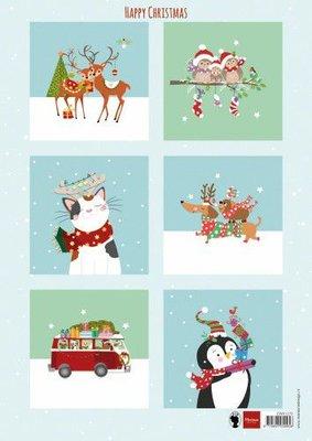 Marianne Design Decoupage Happy Christmas EWK1278 A4 6 designs