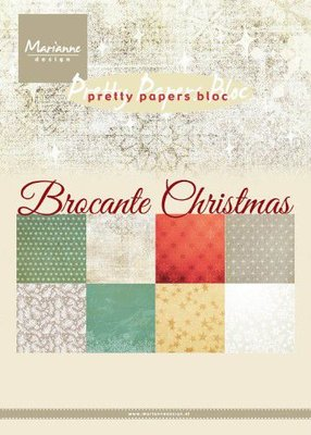 Marianne Design Paperpad Brocante Christmas PK9171 A5 4x8 designs