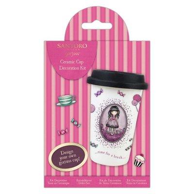 GOR105117 - Do Crafts - Design A Ceramic Cup Kit - Santoro - Sugar & Spice