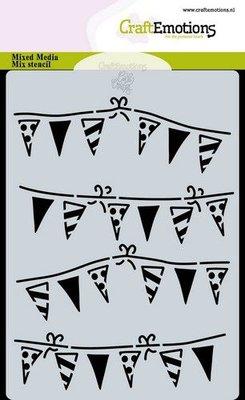 CraftEmotions Mask stencil slinger vlaggetjes A6 Carla Creaties (07-20)