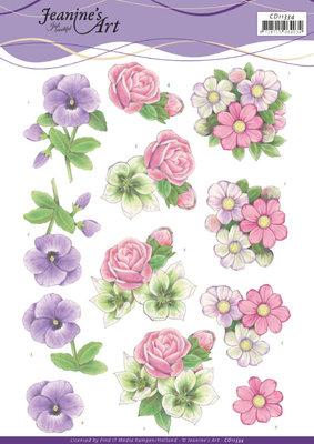 CD11334 3D cutting sheet - Jeanine's Art - Summer Flowers