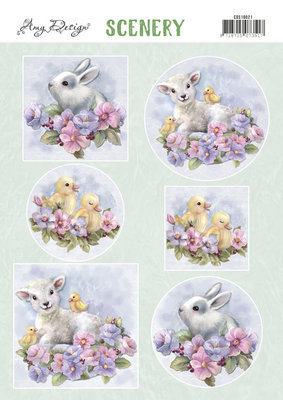 CDS10021 Push Out Scenery -Amy Design - Spring Animals