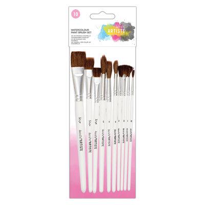 Doa 551003 Do Crafts Artists Watercolour Paint Brush Set (10pk)