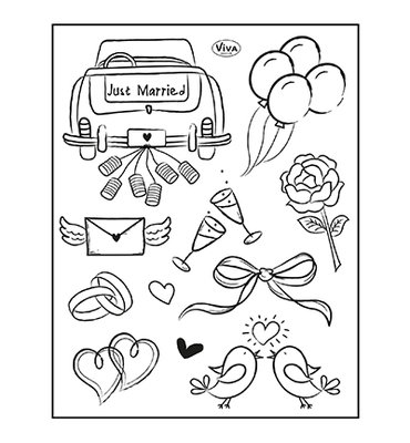400321600 ViVa Decor - Clear Stamp - Just Married -14x18cm