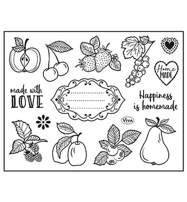 400321700 ViVa Decor - Clear Stamp - Happiness is homemade -14x18cm