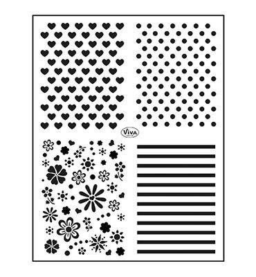 400322200 ViVa Decor - Clear Stamp - Achtergronden klassiek -14x18cm