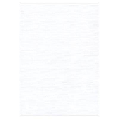 Linnenkarton - Oplegkaartjes - 240 Grams – 9,7x14cm Wit – 25 vel