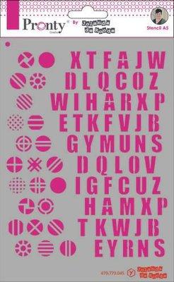 Pronty Mask Pattern Alfabets A5 470.770.045 by Jolanda (07-20)