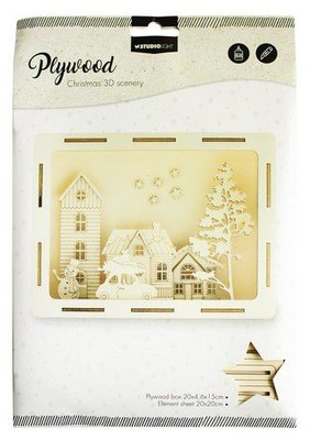 Studio light Plywood Scenery Driving Winter Street nr 15 PWSL15 (08-20)