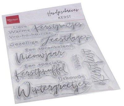 Marianne Design Clear Stamps Handgeschreven - Kerst (NL) CS1067 1110x150mm   (08-20)