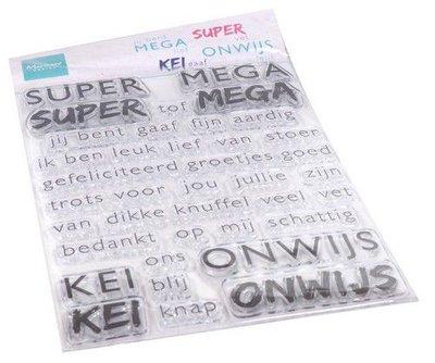 Marianne Design Clear Stamps SUPER-MEGA-KEI-ONWIJS (NL) CS1066 110x150mm   (08-20)