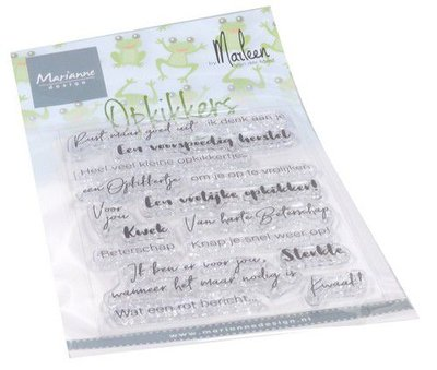Marianne Design Clear Stamps Opkikkers by Marleen (NL) CS1065 182x117mm   (08-20)