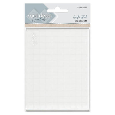 "Card Deco Clear Stamp Block 4x5,25"" (13,3x10,2cm)"
