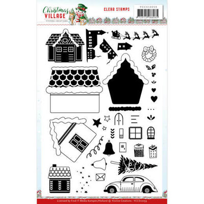 YCCS10059 Clear Stamps Yvonne Creations Christmas Village