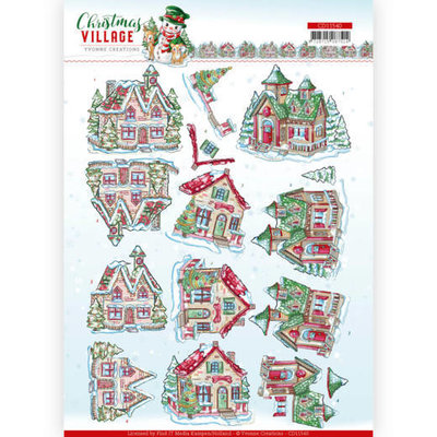 CD11540 3D cutting sheet Yvonne Creations Christmas Village Christmas Houses