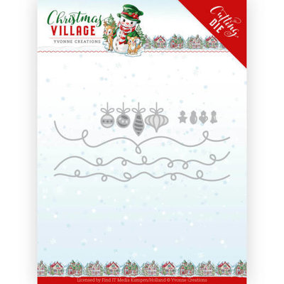 YCD10212 Dies Yvonne Creations Christmas Village Christmas Lights 12,8 x 6 cm