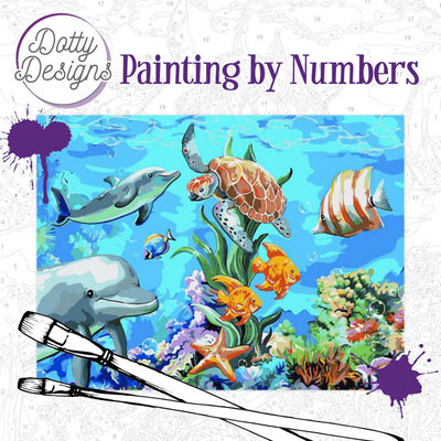DDP1008 Dotty Design Painting by Numbers - Underwater World