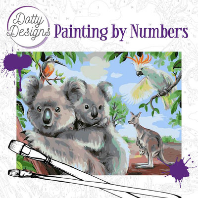 DDP1007 Dotty Design Painting by Numbers - Wild Animals Outback
