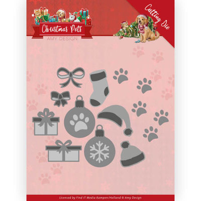 ADD10215 Dies - Amy Design - Christmas Pets - Christmas Decorations 12,8x9cm