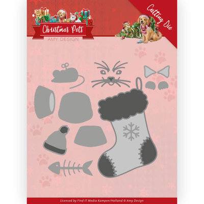 ADD10214 Dies - Amy Design - Christmas Pets - Christmas Cat 10x8,8cm