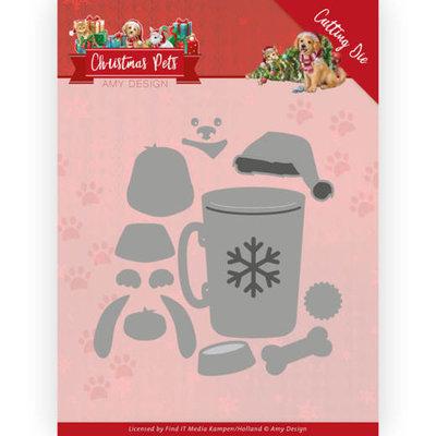 ADD10213 Dies - Amy Design - Christmas Pets - Christmas Dog 10x10cm