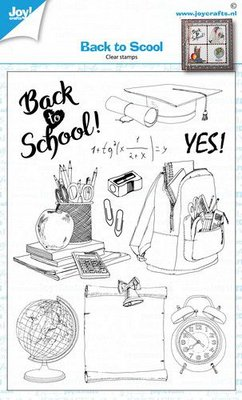 Joy! Crafts Clearstempel - Back to school 6410/0528 A6 (08-20)