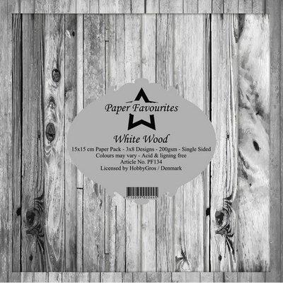 Dixi Craft White Wood 6x6 Inch Paper Pack (PF134)