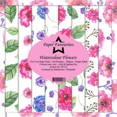 Dixi Craft Watercolour Flowers 6x6 Inch Paper Pack (PF133)