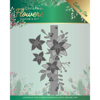 JAD10105 Dies Jeanines Art  Christmas Flowers Poinsettia Border