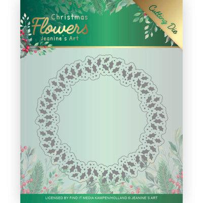 JAD10103 Dies Jeanines Art  Christmas Flowers Holly Christmas Wreath