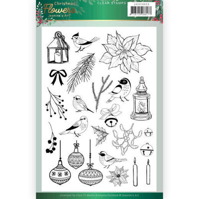 JACS10033 Clear Stamps Jeanines Art  Christmas Flowers