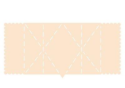 Joy! Crafts Polybesa stencil - kaartvorm met ruit 6005/0005 132x278mm (08-20)