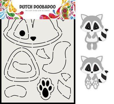 Dutch Doobadoo Card Art A5 Wasbeer 470.713.817 (08-20)