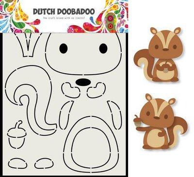 Dutch Doobadoo Card Art Eekhoorn A5 470.713.797 (08-20)