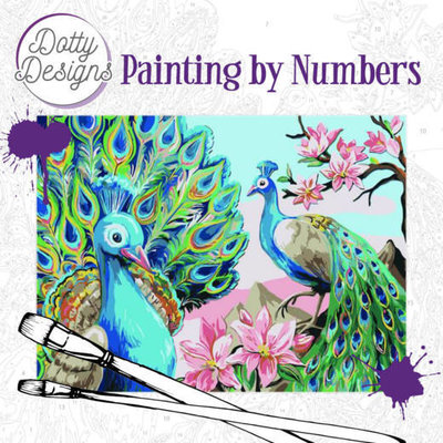 DDP1004 Dotty Design Painting by Numbers - Peacock