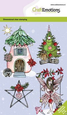 CraftEmotions clearstamps A6 - Fairy house GB Dimensional stamp (09-20)
