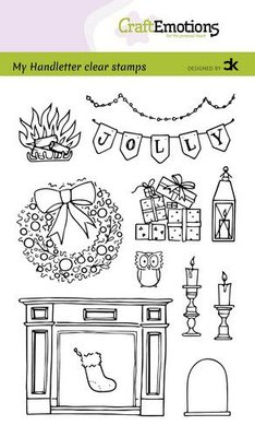 CraftEmotions clearstamps A6 - handletter - X-mas decorations 2 (Eng) Carla Kamphuis (09-20)