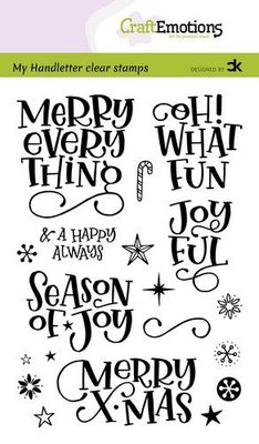 CraftEmotions clearstamps A6 - handletter - Merry  X-mas (Eng) Carla Kamphuis (09-20)